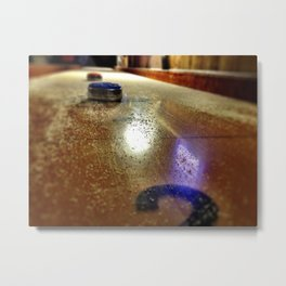 Shuffle Board Metal Print