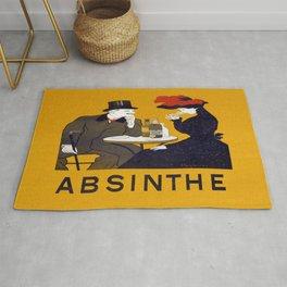 Vintage Absinthe Advertisement Rug