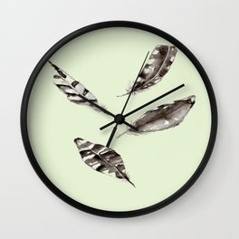 FEATHER DESIGNS / ORIGINAL DANISH DESIGN bykazandholly Wall Clock