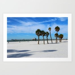Clearwater Pier And Beach Art Print