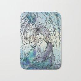 Watercolor Mermaid Bath Mat