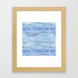Drawn Diamond Chambray Framed Art Print