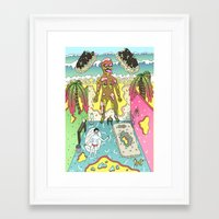 holiday Framed Art Prints featuring holiday by james clapham
