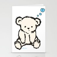 teddy bear Stationery Cards featuring Teddy by RaJess