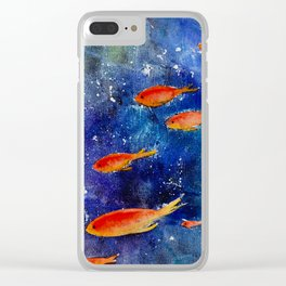 Deep sea Clear iPhone Case