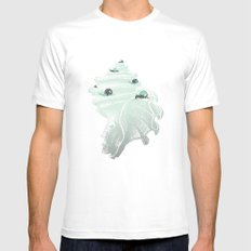 Race for the Prize White MEDIUM Mens Fitted Tee