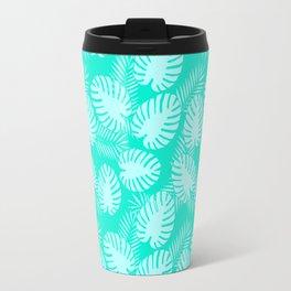 Tropical Aqua Print Travel Mug