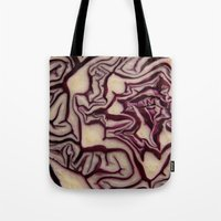 vegetable Tote Bags featuring decorative vegetable by MehrFarbeimLeben