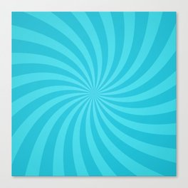 Blue Spiral Ray Stripes Canvas Print