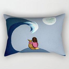 The Moon and Sea Rectangular Pillow