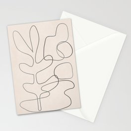 Abstract Line II Stationery Cards