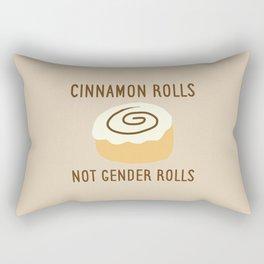 Cinnamon Rolls Not Gender Roles (Brown Background) Rectangular Pillow