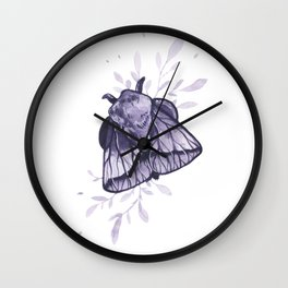 Amethyst Moth Wall Clock