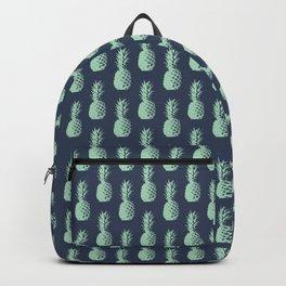 Pineapples - Dark Blue & Light Green #581 Backpack