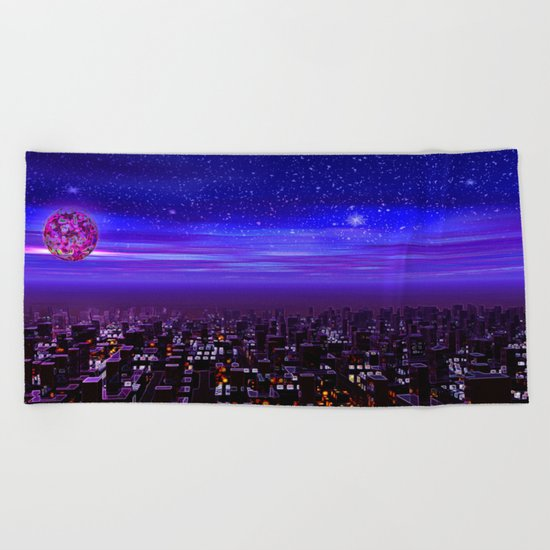 Spaceport Sunset Beach Towel