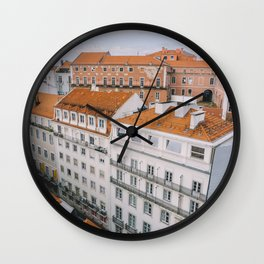 Rooftops over Lisbon, Portugal Wall Clock