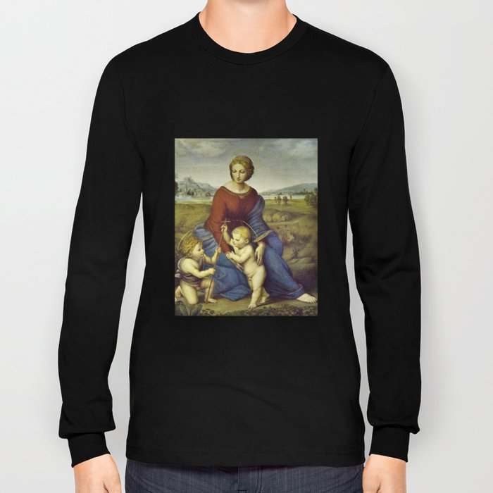 Madonna of the Meadows by Raphael Long Sleeve T-shirt