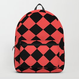 Rhombus (Black & Red Pattern) Backpack