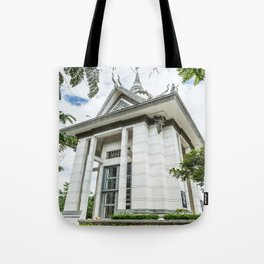 Memorial Stupa at the Killing Fields Tote Bag