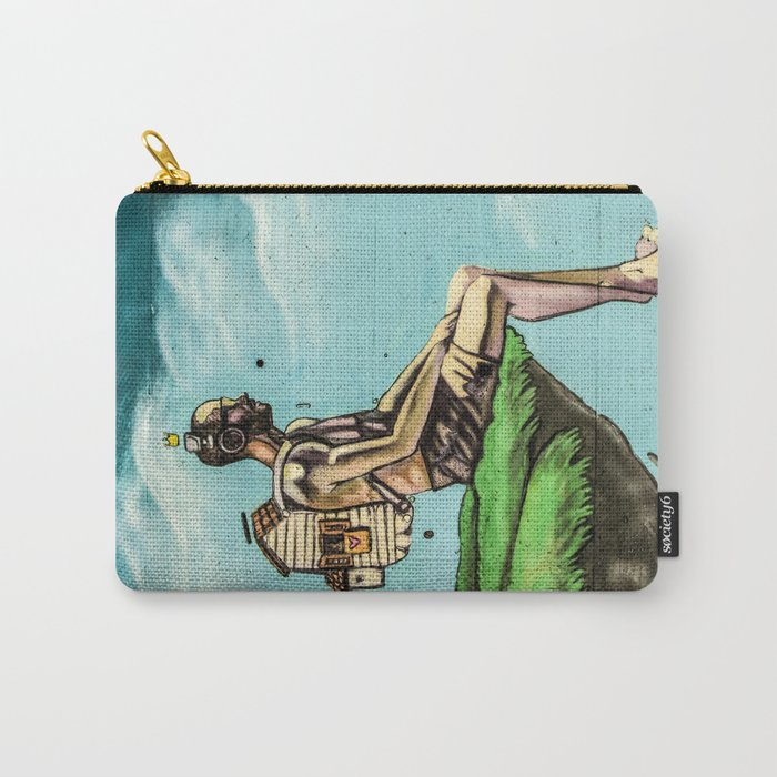 Man on the rock 5 Carry-All Pouch