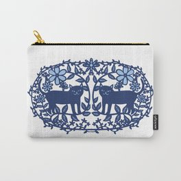 Scandinavian Cat blue Carry-All Pouch