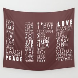 Life is a Design Red Wall Tapestry