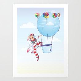 Lonely Ballon Man Art Print