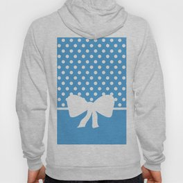 Dots dip-dye pattern with cute bow in blue Hoody
