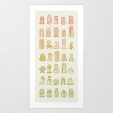 Salt & Pepper (Color) Art Print
