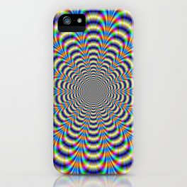 Rosette in Yellow and Blue iPhone Case