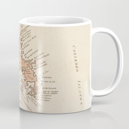 Vintage Map of St Lucia & Martinique (1781) Coffee Mug