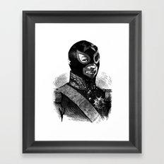 Wrestling mask 2 Framed Art Print