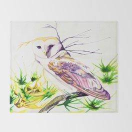 Owl Furze Wisdom  Throw Blanket