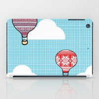hot air balloons iPad Cases featuring Cozy Hot Air Balloons by The Wellington Boot