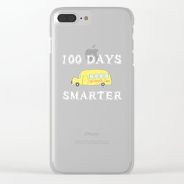 100 Days Smarter 2019 design for Teachers and Students Clear iPhone Case