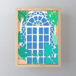 Paradise Patio Door Framed Mini Art Print