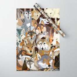 Wolves o´clock (Time to Wolf) Wrapping Paper