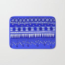Yzor pattern 007-2 blue Bath Mat