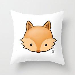 Baby Fox Kawaii Throw Pillow