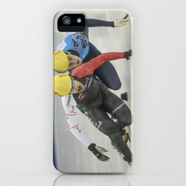 Charles Hamelin, Olympic Champion, Official Action iPhone Case