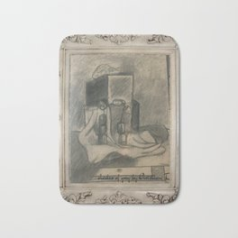 Shades of grey novel modern paintigs by Christian T. Bath Mat