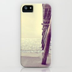 Pier at Sunrise with Glitter iPhone (5, 5s) Slim Case