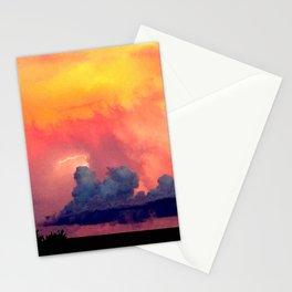 Lightning over Madison Stationery Cards