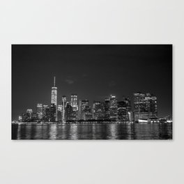 Downtown Manhattan Staten Island Ferry Canvas Print