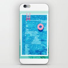 Chillin' - poolside palm springs vacation resort tropical swim swimming retro neon throwback 1980s iPhone & iPod Skin