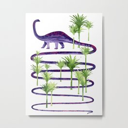 Dinosaur walk Metal Print