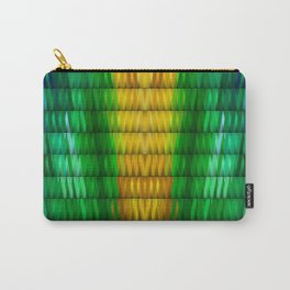 Multicolored Rectangle Pattern Carry-All Pouch
