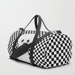maltese checkers background Duffle Bag
