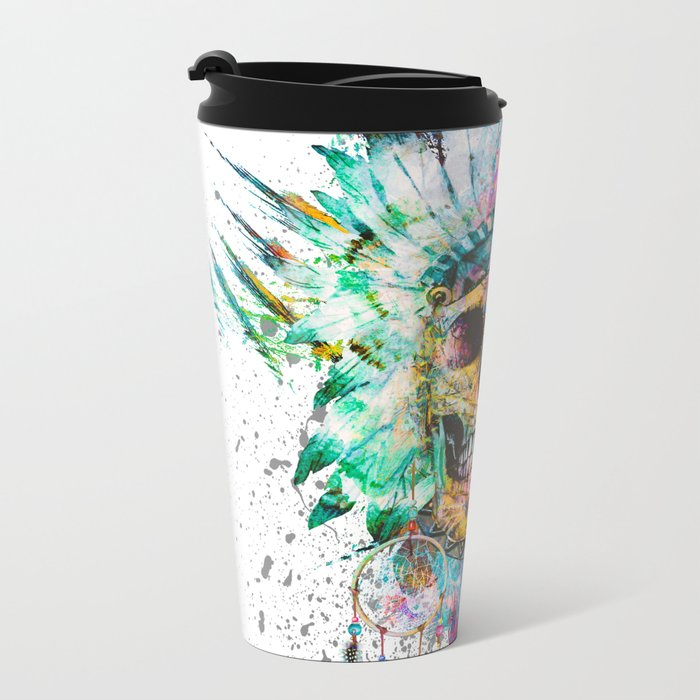 SKULL - WILD SPRIT Metal Travel Mug
