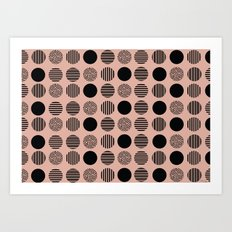 old pink circles Art Print